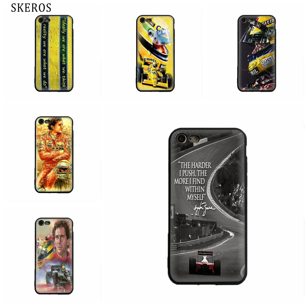 SKEROS Ayrton Senna I have no idols TPU Phone  Soft Cover For Iphone X 5 5S Se 6 6S 7 8 6 Plus 6S Plus 7 Plus 8 Plus #oa525