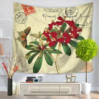 Tapestry Beach Carpet All Purpose Covers Many Uses Flowers Birds Plants Printed Instagram Fashion Photo Background