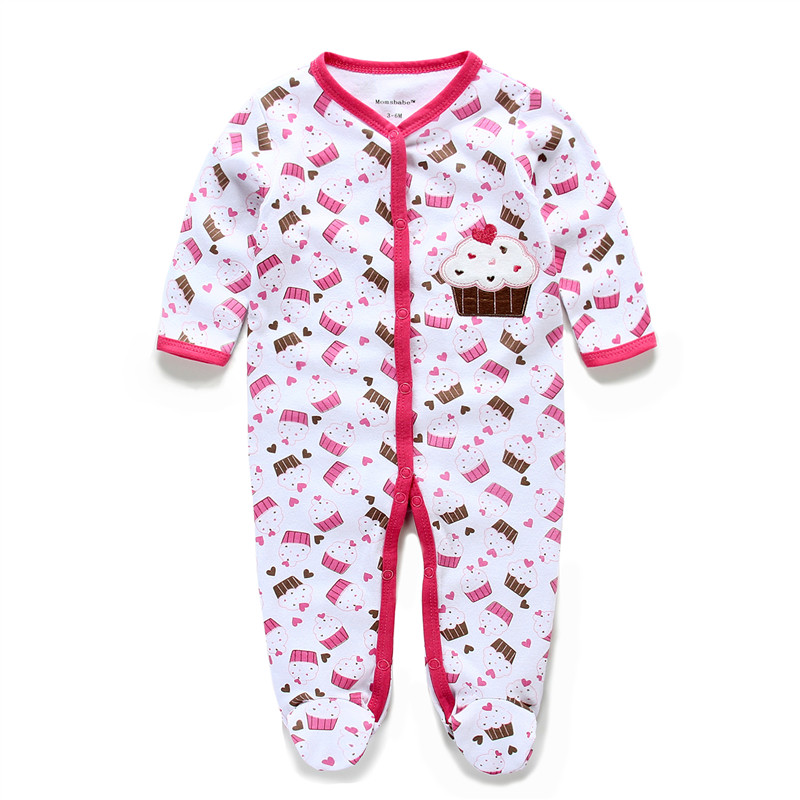 Newborn Baby Boy Girl Clothes 100% Cotton Long Sleeve Pack Feet Baby Rompers Infant Overall Soft Bebe Jumpsuits Baby Clothing cartoon fox baby rompers pajamas newborn baby clothes infant cotton long sleeve jumpsuits boy girl warm autumn clothes wear