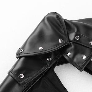 Image 5 - Unisex Gothic Steampunk PU Single Shoulder Armors Arm Strap Set Adjustable Metal Rivets Shoulder Strap Cosplay Costume Accessory
