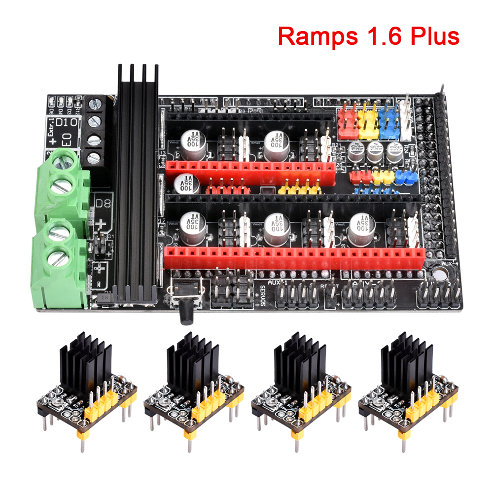 3D Printer Parts Ramps 1.6 Plus Board Upgrade Base On Ramps 1.6 1.5 1.4 Control Board PCB TMC2130 Tmc2208 Drv8825 A4988 Driver