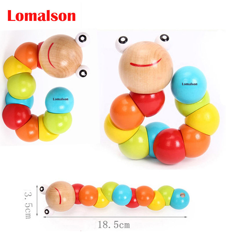 Kids Infant Gift Baby DIY Early Toy Educational Insect Twist Caterpillar