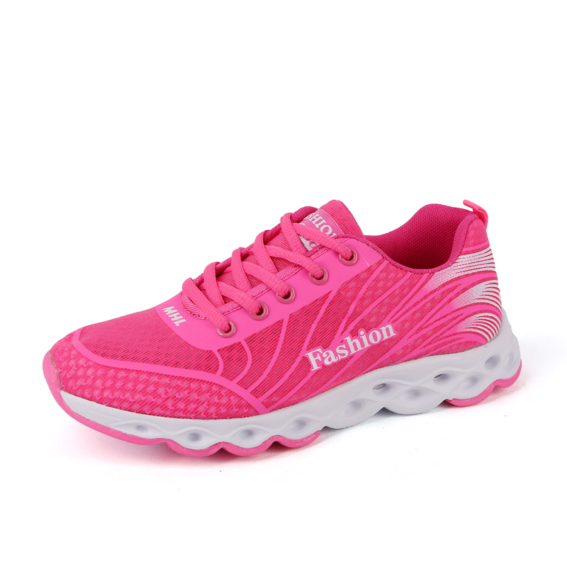 Women Running Shoes Outdoor Athletic Sport Sneakers Spring And Summer Breathable Mesh Upper Lace Up 4