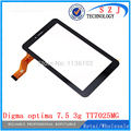 Original 7'' inch Touch screen Digitizer Digma optima 7.5 3g TT7025MG Tablet 30pins Touch panel Sensor replacement Free Shipping