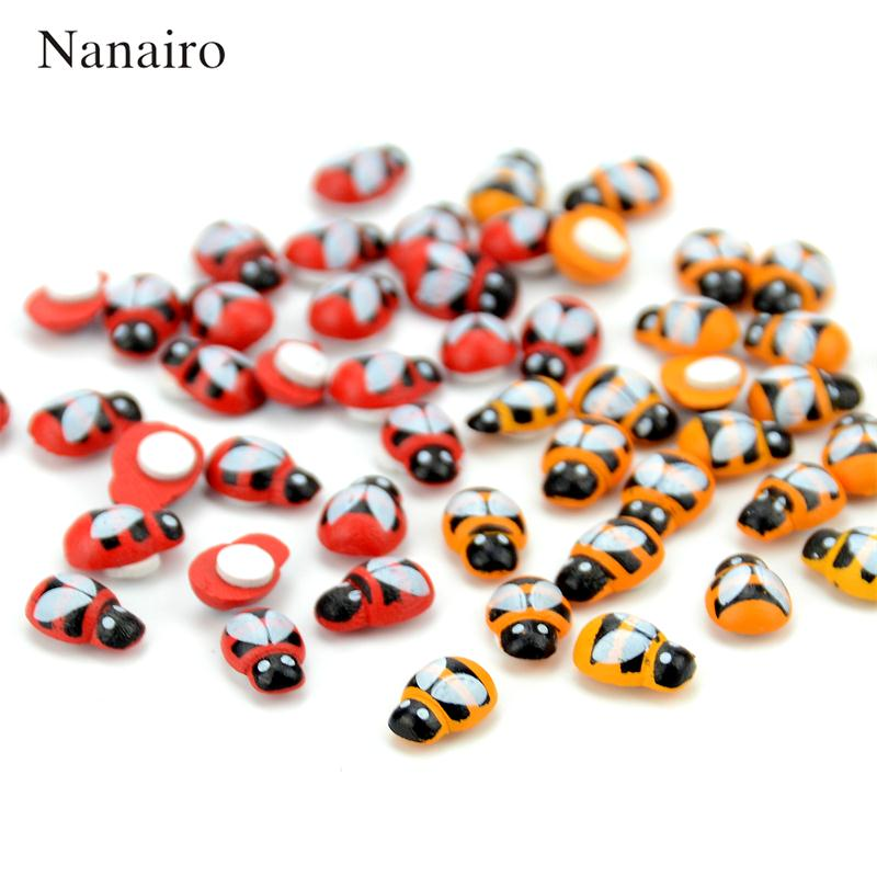 20Pcs Wooden Ladybird Ladybug Wall Sticker Back Children Kids Painted Adhesive Back DIY Craft Home Party Holiday Decoration