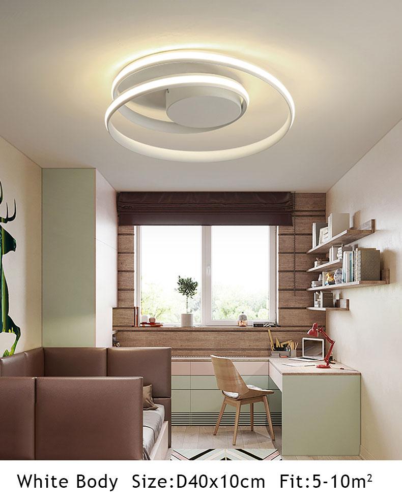 HTB1hiRuQhnaK1RjSZFtq6zC2VXa1 Hot Sale Modern LED Ceiling Lights For Living Room Bedroom Dining Room Luminaires White&Black Ceiling Lamps Fixtures AC110V 220V