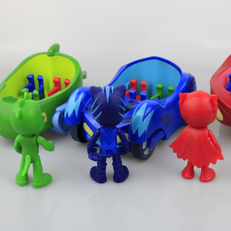 3Pcs-set-Cute-Pj-Masks-Toy-Car-Model-Characters-Catboy-Owlette-Gekko-Cloak-Action-Figure-Toys (2)