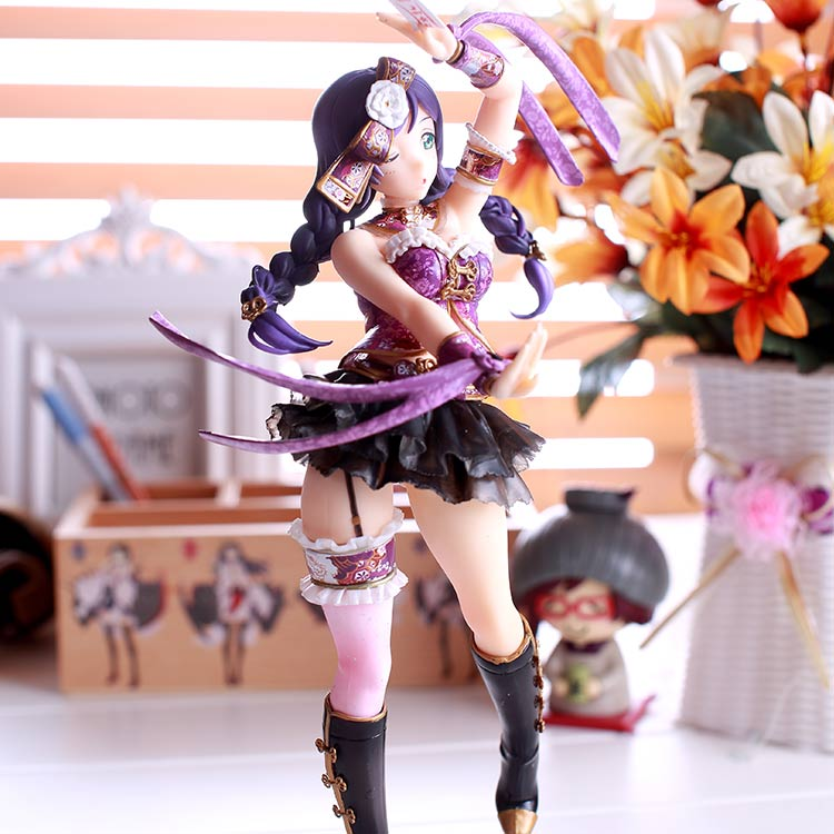 23cm Love Live! Tojo Nozomi Poker Card Version 1/7 Scale Painted Figure Collectible Model Toy
