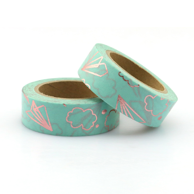 1PCS Foil Airplane & Clouds Decorative Washi Tape Diy Scrapbooking Masking Tape School Office Supply
