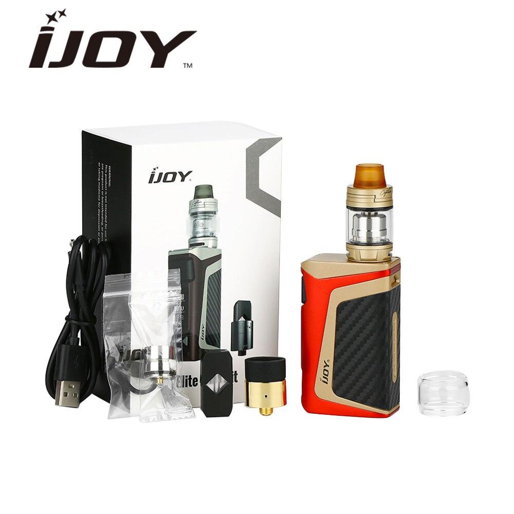 IJOY ELITE Mini 3 en 1 Kit Vape 60 W boîte Mod wi/Subohm & RTA & Pod système 2 ml/3 ml réservoir 2200 mAH batterie vs Darg 2/shogun