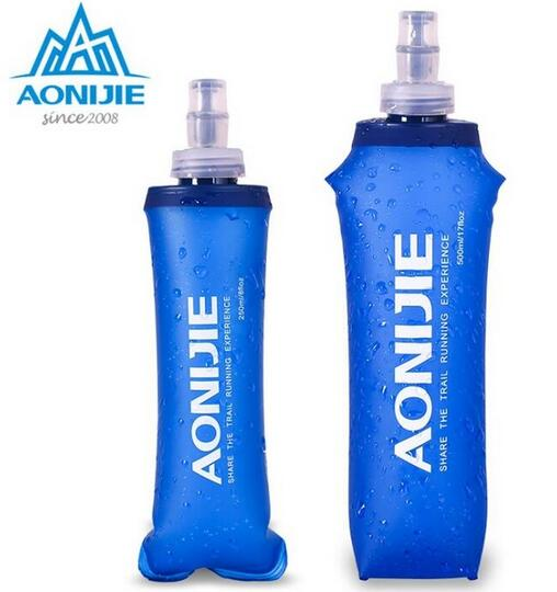 AONIJIE silikono vandens krepšys lauko sporto stovyklavietės laipiojimo sulankstomos vandens maišeliai 170ml 500ml 250ml gėrimų dviračių kelionių buteliai