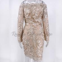 Chic Embroidery Celebrity Sexy Women Sequins Dress Fashion Summer New Woman Slim Vintage Bodycon Luxury Club Party Dresses 2018