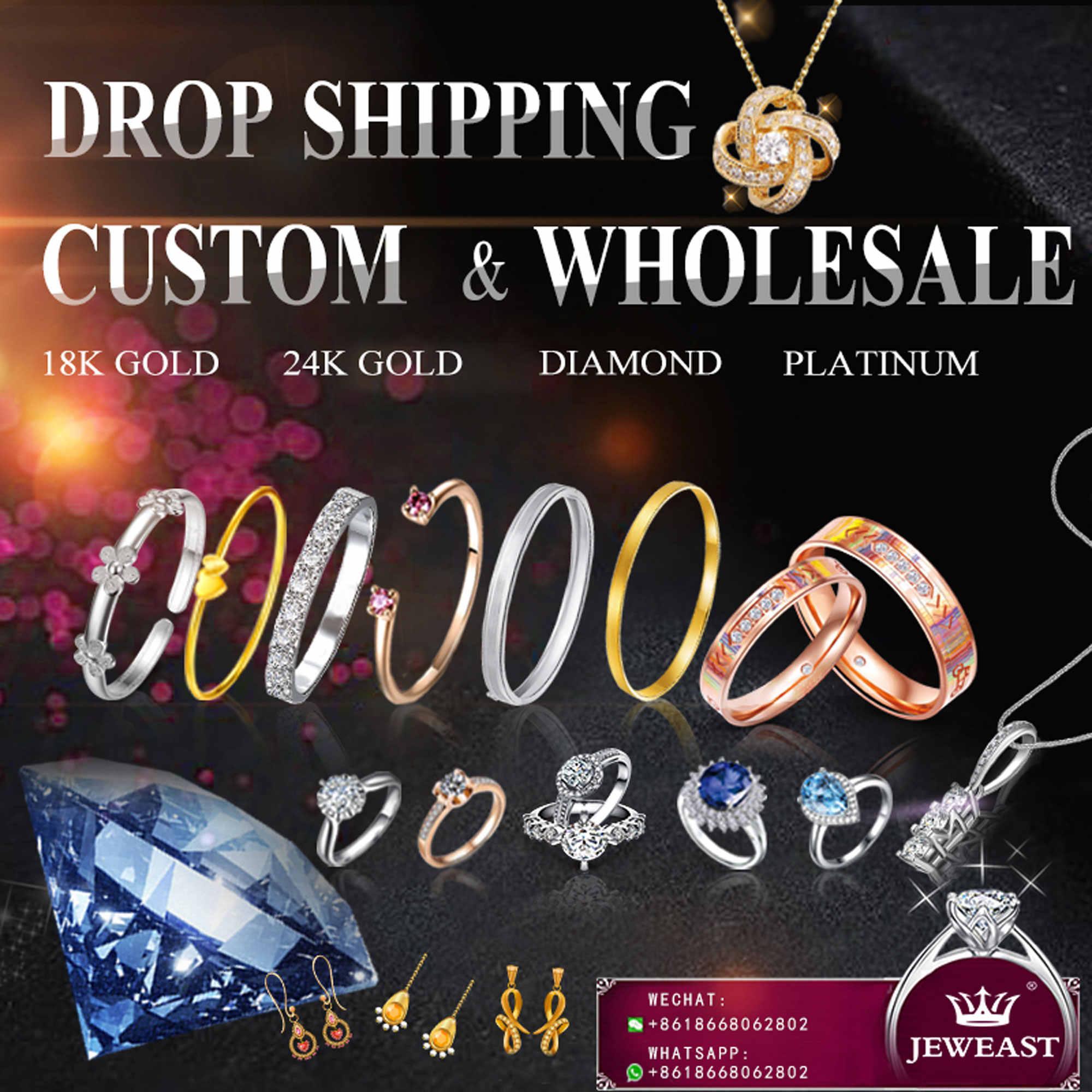 18k puro ouro anel rosa branco unisex homem mulher amante casamento noivado jóias finas menina miss presente 2017 venda quente customizável