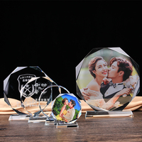 Personalized Round Glass Sculpture Customized Sports Events Awards Trophy Statue DIY Games Rewards
