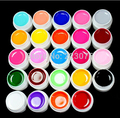 Hot 24 Color Solid Pure UV Builder Gel Set Nail Art False Full French Tips Salon Set