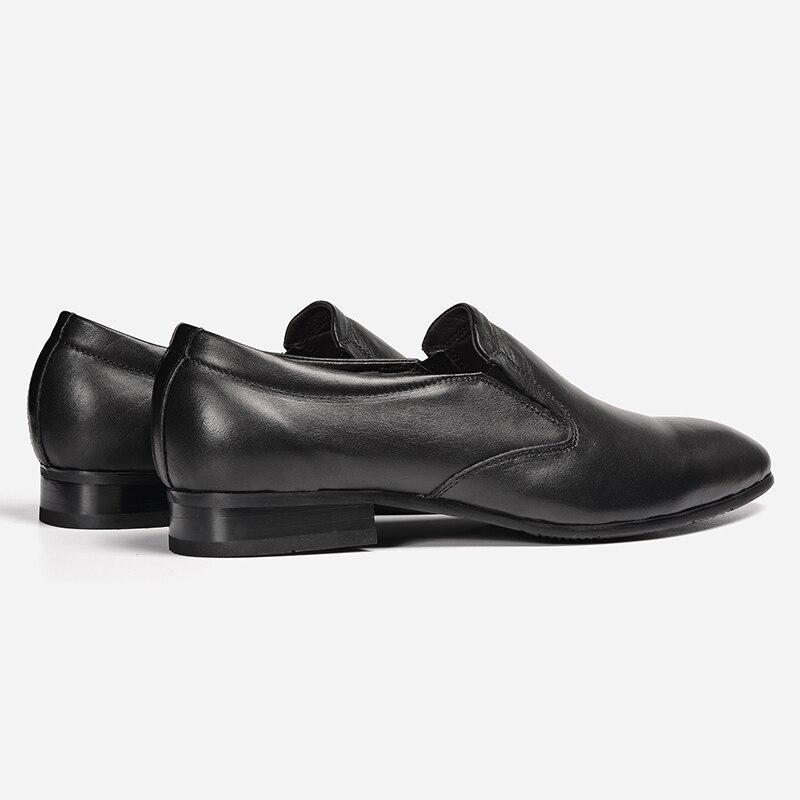 50 Black light Hommes Slip Mens Naturel Robe dark on Brown Chaussures 1613 Véritable En Bout Pointu Brown Cuir 35 ~ 54AwqZqU