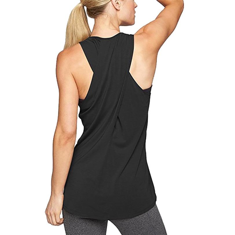 Racerback Workout   Tank     Top   Vest Women Casual Loose Camis 2018 Women's   Tops   Base Shirt Women's Blouse Wholesale 30AR13