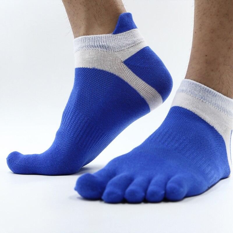 2017 New MenS Toes Sock Football Basketball Five Fingers Short Socks Sweat Breathable Cotton Fitness Gym Sports Running Socks