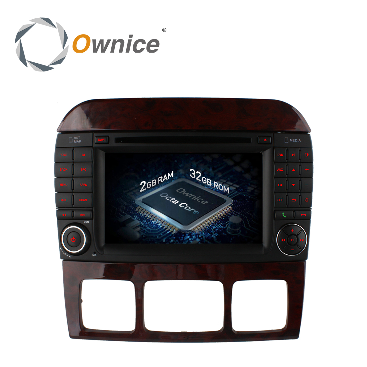 Ownice C500 Android 6.0 Octa Core Car DVD Player for Mercedes S Class W220 S280 S320 S350 S400 S420 S430 GPS Navi Radio wifi 4G