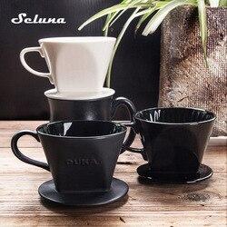 101/102 stożek kroplownik kawowy ceramiczny ręczny filtr do przelewowego zaparzania kawy V60 permanentny ekspres do kawy wlać ekspres do kawy filtr kroplowy w Filtry do kawy od Dom i ogród na