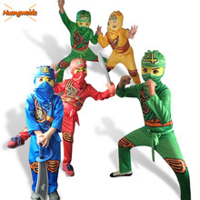 Ninjago Kostüm Jungen Kostüme Kinder Phantasie Party Kleid Up Karneval Halloween Kostüm Für Kinder Ninja Cosplay Superhero Overall(China)