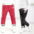 2016 New Child Winter Cold Windproof Children Warm Plus Velvet Pants Girls Cotton Down Trousers Fashion Boys Thicken Down Pants