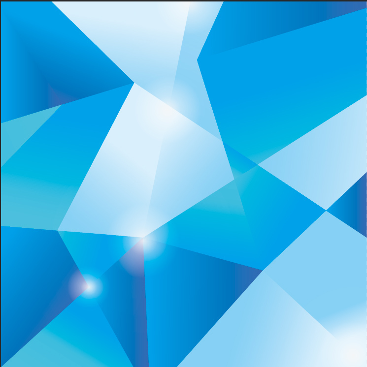 10x10ft Light Blue Geometric Triangle Polygons Pattern