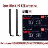 2 piezas B593 5dBi SMA macho antena para 4G LTE Router como B593 E5186 B315 B310 B525 (blanco /negro)