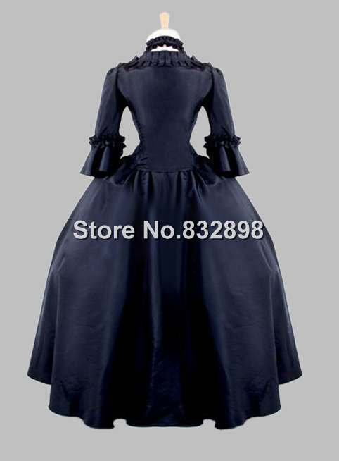 Gothic Black Jacquard Pleuche Victorian Era Dress Historical Stage Costume-in  Dresses from Women s Clothing on Aliexpress.com  84102693912c