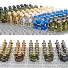Military Army Figures Compatible LegoINGly WW2 Soldier Weapon Set 98k Gun Building Block Brick World War II Bricks Toys For Boys