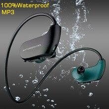 Fones de ouvido à prova d' água MP3 suor Esportes mp3 fone de Ouvido de Natação 8g RAM À Prova D' Água leitor de música Música fones de ouvido fones de ouvido Fone de Ouvido Baixo