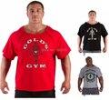 Academias de ginástica dos homens t camisa roupas de verão ouros homens Imprimir academias de Musculação gymshark camisa academias de ouro O-pescoço camisa dos homens t de roupas