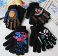 Autumn and Winter men and women's thicken thermal warm knitted gloves boy and girls double layer kids sports gloves
