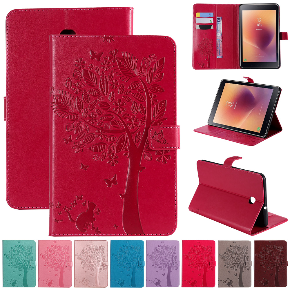 Business Tablet Case For Samsung Galaxy Tab A 8 2018 SM-T387 T387 Case Leather Magnetic Cover Shock Proof Slim Cover Case