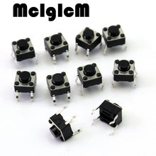 H013-11 200pcs Mini Micro Momentary Tactile Push Button Switch 6*6*5mm 4 pin ON/OFF keys button DIP 6*6*5