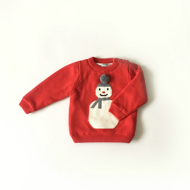 Christmas Red Sweater Cardigan Baby Girls Boys Knitted kids christmas sweater tricot couture fille roupas infantis menino kerst