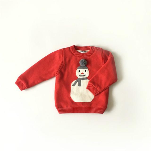 Navidad Roja chaqueta de Punto Muchachos de Los Bebés de Punto niños suéter tejido de punto de navidad couture fille roupas infantis menino kerst