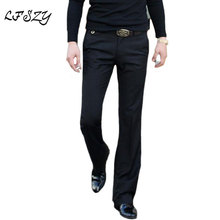 2019 Spring and Summer Drape Micro-horn trousers Male Slim Korean Gray feet pants British Non-iron Size28-36 37