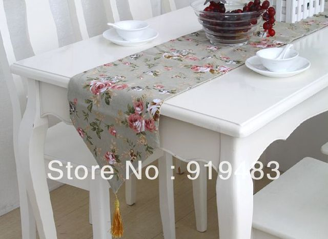 Free shipping cotton+/linen fabric fashion table runner 30*180 cm wholesale and retail