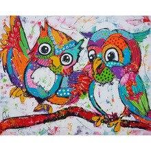 DIY Diamond Painting Owl Animal Home Decor Rhinestone 3D Cross Stitch Kits Full Resin Mosaic Embroidery Needleworks