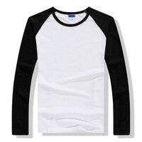 Zwyczaj Drukowane Spersonalizowane Koszulki Projektant Logo Kobiety i Mężczyźni Z Długim Rękawem T shirt Reklama Marka Tees