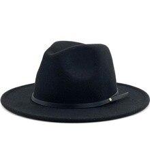 Для женщин и мужчин Шерсть Винтаж Гангстер Трилби фетровая шляпа с широкими полями джентльмен Элегантная Леди Зима Осень Джаз шапки