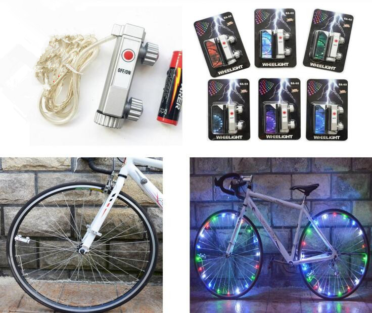 14 LED Bicycle Flashlight Motorcycle Bicycle Wheel Signal Tire Spoke Light Lamp