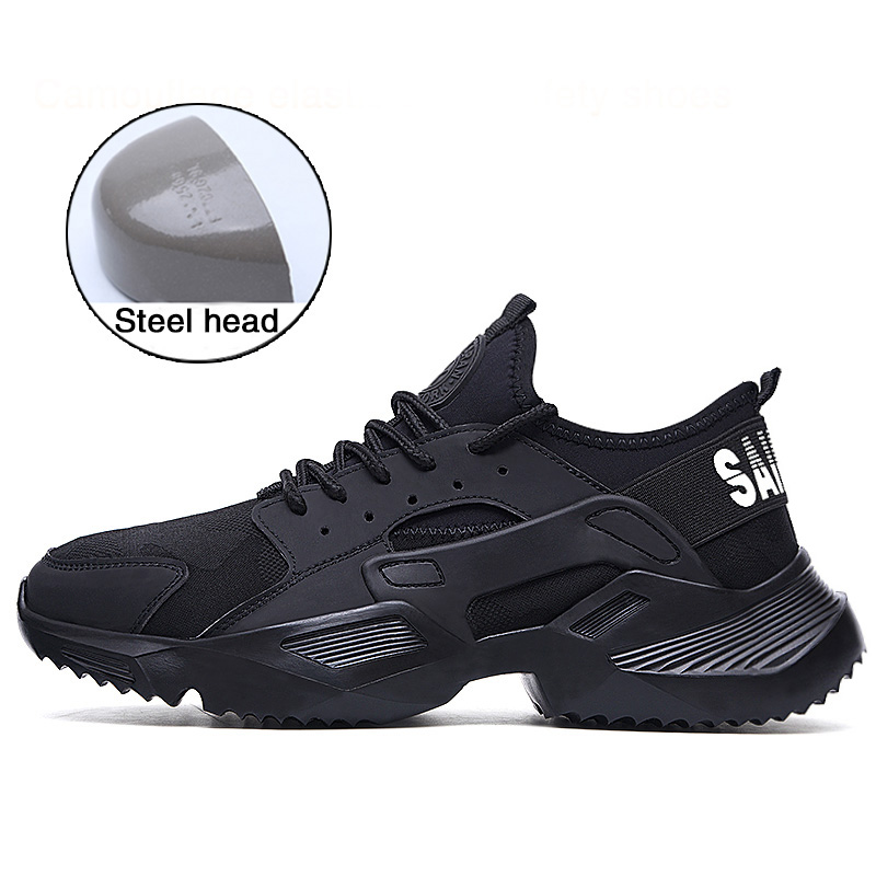 Lightweight  Safety Shoes Men's Steel Toe  Anti-smashing  Work Sneakers Breathable Wear-resisting  Work Shoes