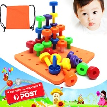 2018 Children's Favorite Toy 30PCS Peg Board Set Fine Motor Toy For Toddlers  Feature Building Blocks Toys For Childern Kids цена в Москве и Питере