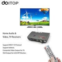 DOITOP Digital TV Box 1080P HDMI DVB T DVB T2 TV Box VGA AV CVBS Tuner