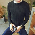 2016 New Brand Men  Sweater Autumn Winter O-neck Thick Kintwear Pullover Christmas Mens Sweaters High Quality
