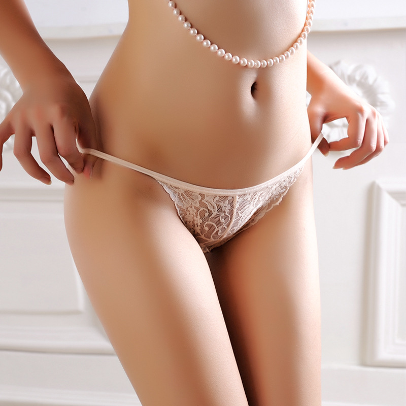 Sb 3Pcslot Lace Transparent Ultra Thin Seamless Hip Thong -8560