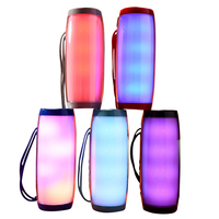 Colorful LED Lights Bluetooth Speaker HIFI Stereo Wireless Portable with Mic Hands Free Support TF FM USB Flash Subwoffer