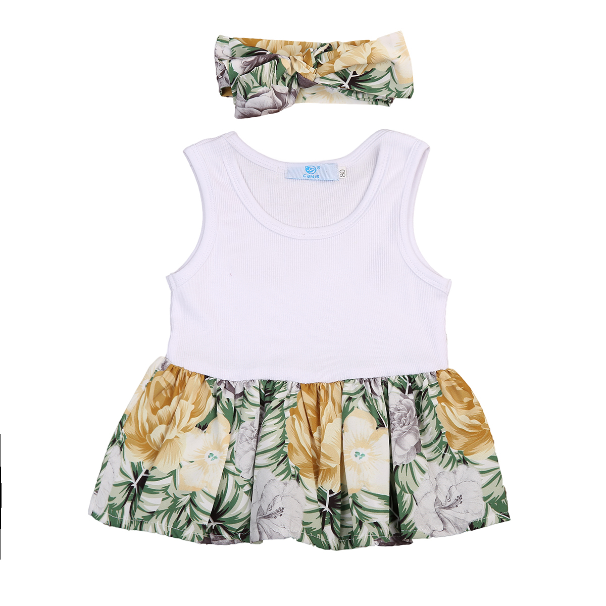 Baby Girl Floral T-shirt Sleeveless Kid Party Formal Tops Children Clothing Girls Summer Clothes